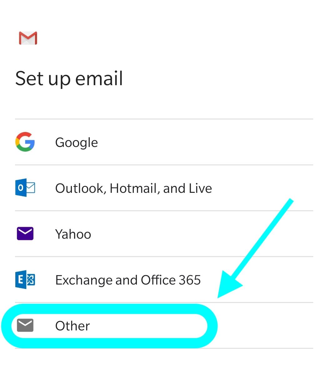 Android sähköposti